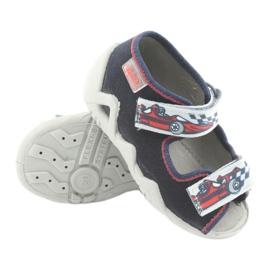 Befado obuwie dziecięce 250P084 szare czerwone granatowe 3
