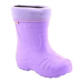 Befado obuwie dziecięce kalosz- fiolet 162P102 fioletowe 2