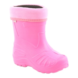 Befado obuwie dziecięce kalosz- róz 162p101 różowe 1