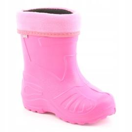 Befado obuwie dziecięce kalosz- róż 162X101 różowe 2
