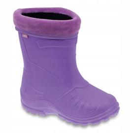 Befado obuwie dziecięce kalosz-fiolet 162Y102 fioletowe 1