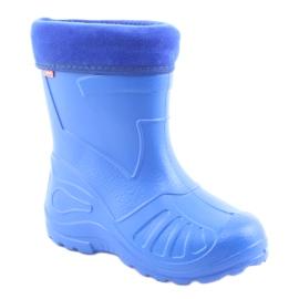 Befado obuwie dziecięce kalosz- chabrowy 162P106 niebieskie 2