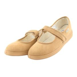 Befado obuwie damskie pu 462D003 beżowy 4