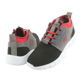 Befado obuwie dziecięce sportowe 516Y037 czarne czerwone szare 3