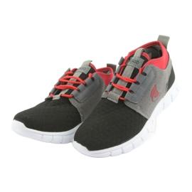 Befado obuwie dziecięce sportowe 516Y037 czarne czerwone szare 2