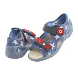 Befado obuwie dziecięce pu 065X119 białe czerwone niebieskie 4