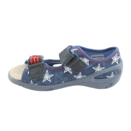 Befado obuwie dziecięce pu 065X119 białe czerwone niebieskie 2