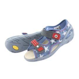 Befado obuwie dziecięce pu 065X119 białe czerwone niebieskie 5