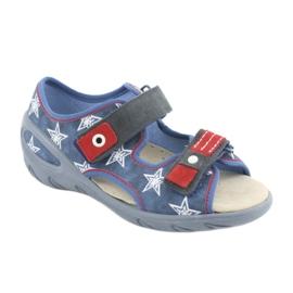 Befado obuwie dziecięce pu 065X119 białe czerwone niebieskie 1
