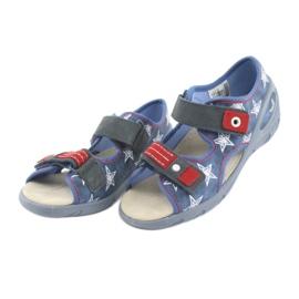 Befado obuwie dziecięce pu 065X119 białe czerwone niebieskie 3