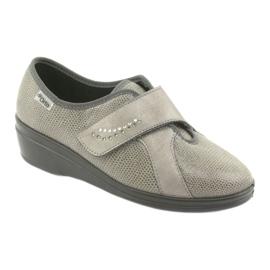 Befado obuwie damskie pu 032D003 szare 2