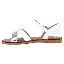 L. Lux. Shoes Stylowe Białe Sandały szare 2