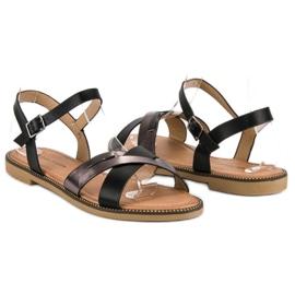 L. Lux. Shoes Stylowe Czarne Sandały 4