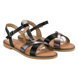 L. Lux. Shoes Stylowe Czarne Sandały 5