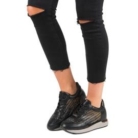 Kylie Modne Buty Sportowe czarne 5