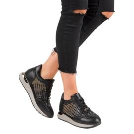 Kylie Modne Buty Sportowe czarne 6