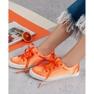 Kylie Satynowe Trampki pomarańczowe 7