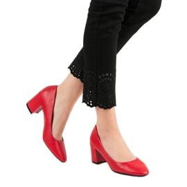 Ideal Shoes Klasyczne Czerwone Czółenka 2