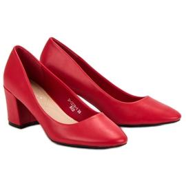 Ideal Shoes Klasyczne Czerwone Czółenka 6