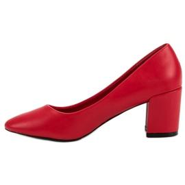Ideal Shoes Klasyczne Czerwone Czółenka 4