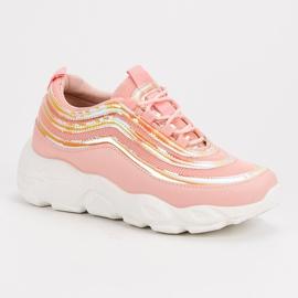Lekkie Buty Sportowe różowe 1