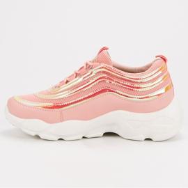 Lekkie Buty Sportowe różowe 2