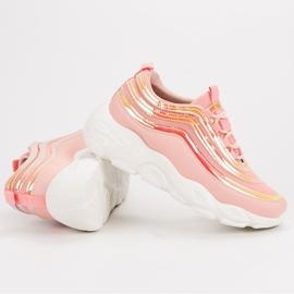 Lekkie Buty Sportowe różowe 3