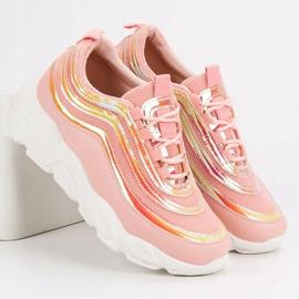 Lekkie Buty Sportowe różowe 6