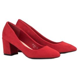 Ideal Shoes Czerwone Czółenka Na Słupku 6