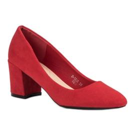 Ideal Shoes Czerwone Czółenka Na Słupku 3