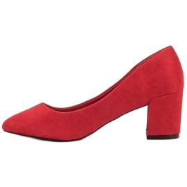 Ideal Shoes Czerwone Czółenka Na Słupku 4