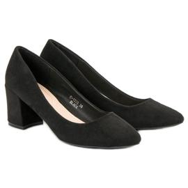 Ideal Shoes Czarne Czółenka Na Słupku 5