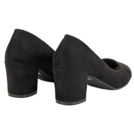 Ideal Shoes Czarne Czółenka Na Słupku 4