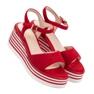 Vinceza czerwone Wygodne Sandały Na Koturnie zdjęcie 7