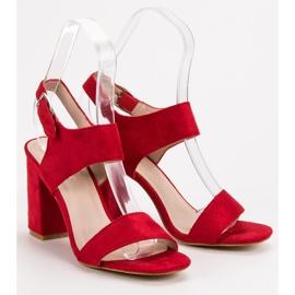 Czerwone Sandały VINCEZA 5