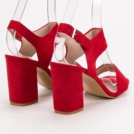 Czerwone Sandały VINCEZA 7