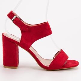 Czerwone Sandały VINCEZA 3