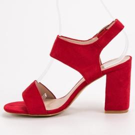 Czerwone Sandały VINCEZA 4