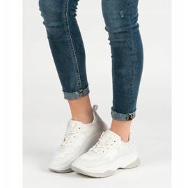 Kylie Modne Białe Sneakersy 5