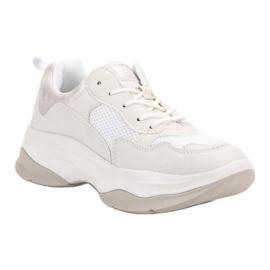 Kylie Modne Białe Sneakersy 1