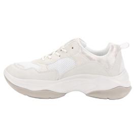 Kylie Modne Białe Sneakersy 2