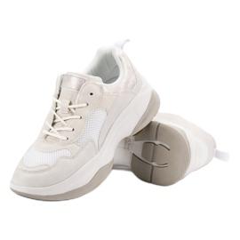 Kylie Modne Białe Sneakersy 3