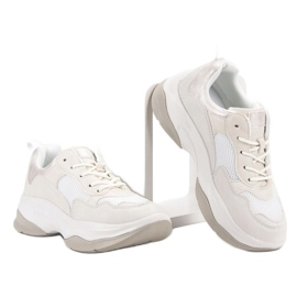 Kylie Modne Białe Sneakersy 4