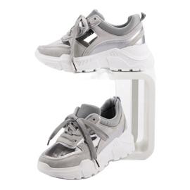 Transparentne Sneakersy szare 6