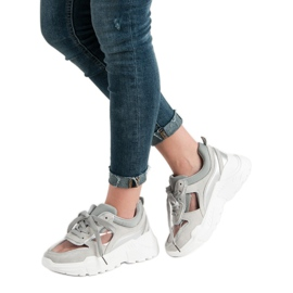 Transparentne Sneakersy szare 2
