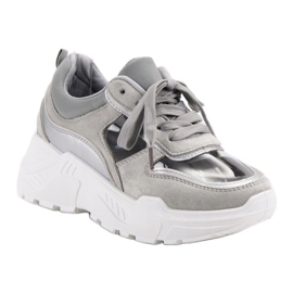 Transparentne Sneakersy szare 3