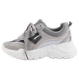 Transparentne Sneakersy szare 4