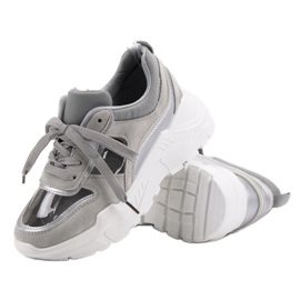 Transparentne Sneakersy szare 5