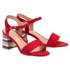 Modne Czerwone Sandały VINCEZA 1