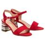 Modne Czerwone Sandały VINCEZA zdjęcie 1